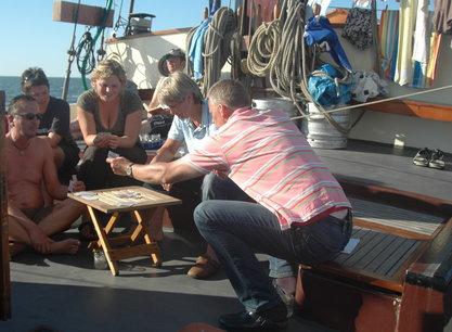 Bree Sant kuip - spelletje aan dek